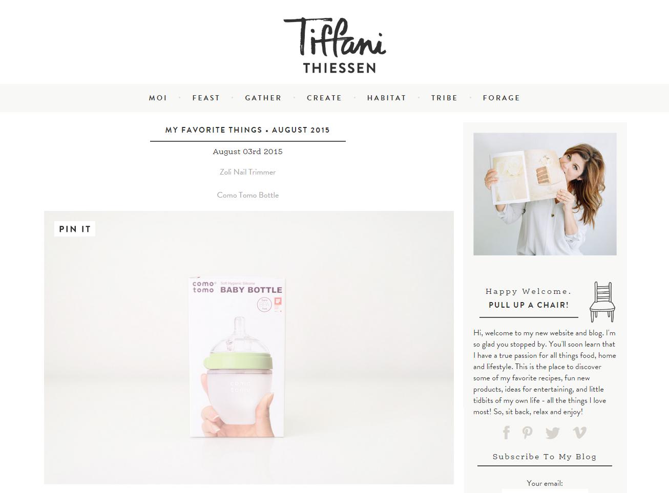"Tiffani Thiessen's ""Favorite Things"" 코모토모"