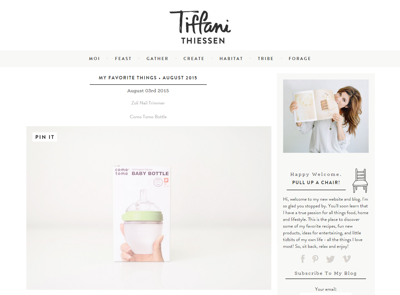 "Tiffani Thiessen's ""Favorite Things"" 코모토모"